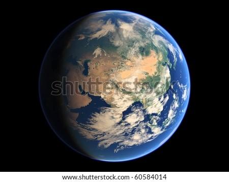 Virtual Planets Earth Planet 02 - stock photo