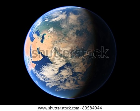 Virtual Planets Earth Planet 04 - stock photo