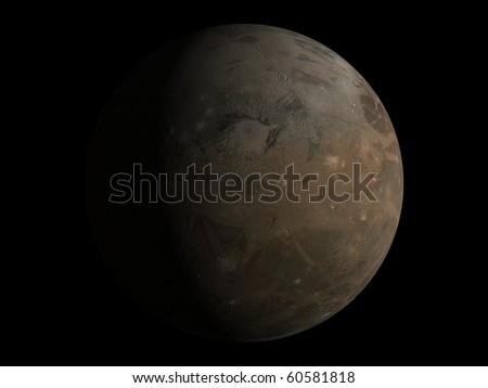 Virtual Planets Ganymede Moon 03 - stock photo