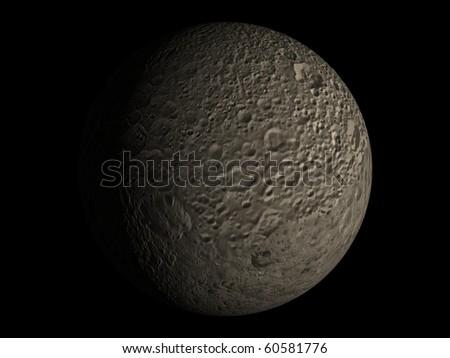 Virtual Planets Mimas Moon 01 - stock photo