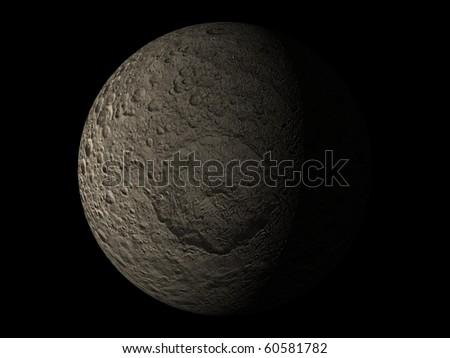 Virtual Planets Mimas Moon 04 - stock photo