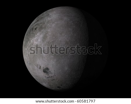 Virtual Planets Moon 04 - stock photo