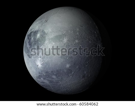Virtual Planets Pluto Planet 02 - stock photo