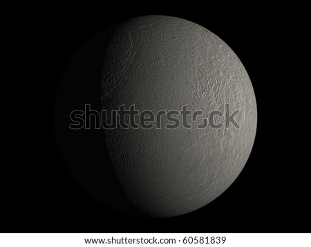 Virtual Planets Tethys Moon 03 - stock photo