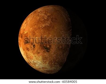 Virtual Planets Venus Planet 04 - stock photo