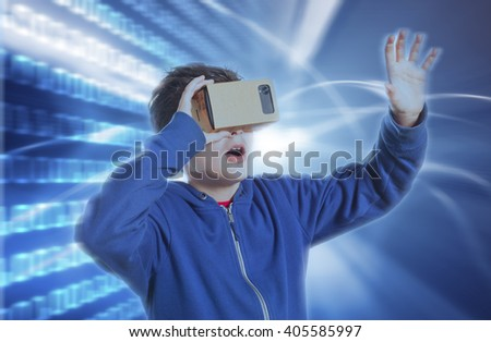 virtual reality - stock photo