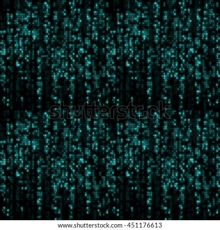 Virtual reality, abstract technology background with blue symbols, illustration. - stock photo