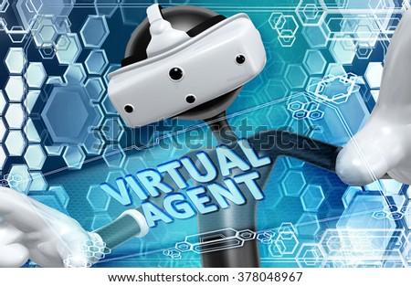 Virtual Reality VR Agent - stock photo