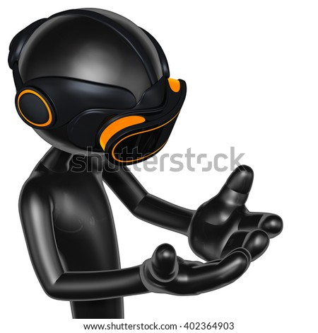Virtual Reality VR Concept Goggles Glasses Headset Device 3D Illustration  - stock photo