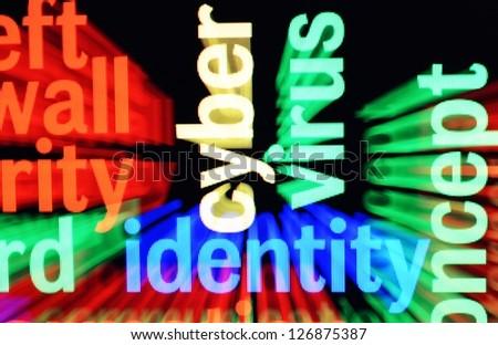 Virus identity - stock photo