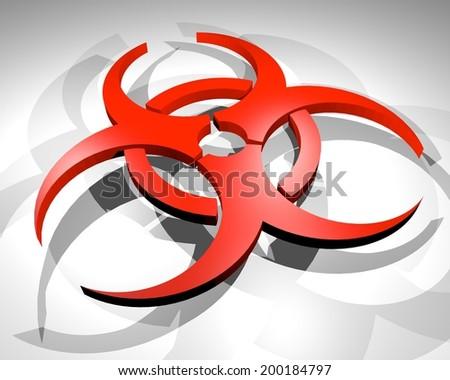 Virus symbol - stock photo