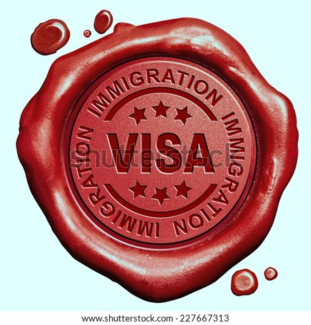 visa immigration travel passport access granted or denied - stock photo
