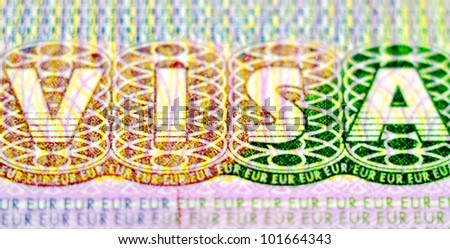 Visa stamp - stock photo