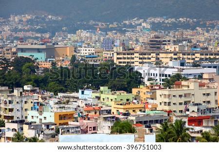 Visakhapatnam, INDIA - December 7 : Visakhapatnam is largest city in newly bifurcated Andhra Pradesh state in India, On December 7,2015 Visakhapatnam, India - stock photo