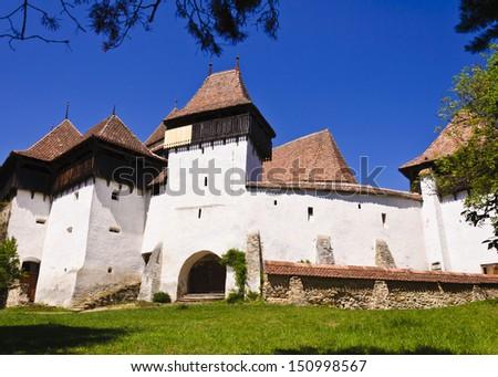 Viscri Fortified Church, Transylvania, UNESCO heritage - stock photo