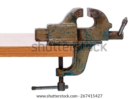 Vise Grip isolated on white background - stock photo
