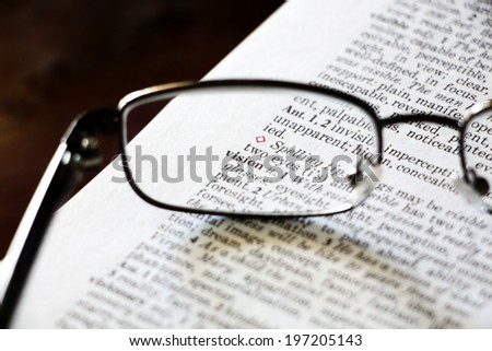 Vision glasses concept - stock photo