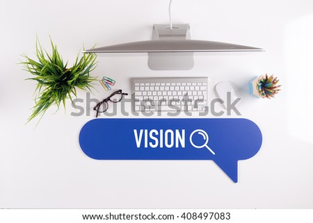 VISION Search Find Web Online Technology Internet Website Concept - stock photo