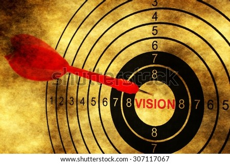 Vision target concept on grunge background - stock photo