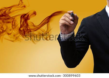 Visionary businessman - stock photo