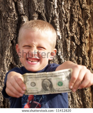visit from the tooth-fairy. - stock photo