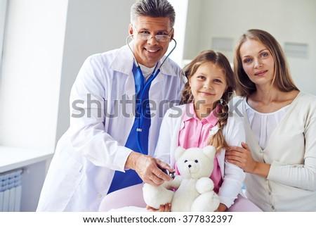 Visiting pediatrician - stock photo