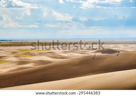 Vista at Great Sand Dunes National Park - stock photo