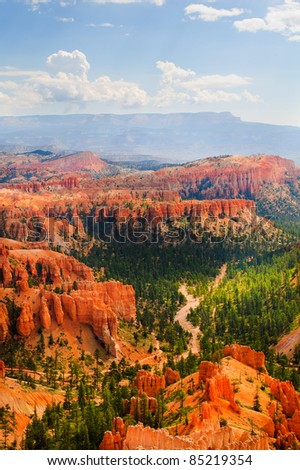 Vista of Bryce Canyon National Park in Utah - stock photo