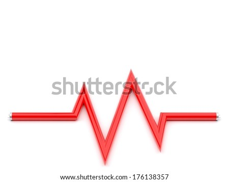 vital signs by fluorescent lamp - stock photo