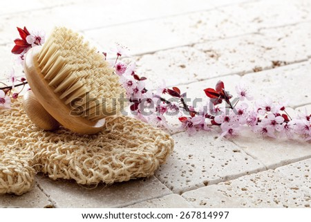 vitality massage for beauty and purity at the spa - stock photo