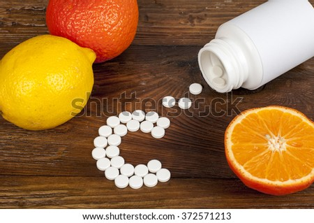 vitamin C - stock photo