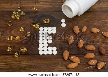 vitamin E - stock photo