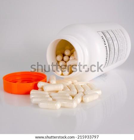 Vitamin pills - stock photo
