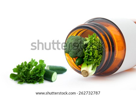Vitamins and minerals concept  - stock photo
