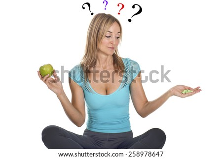 vitamins or not - stock photo