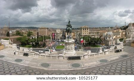 VITTORIO EMANUELE II MONUMENT IN ROME - stock photo