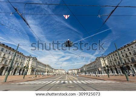 Vittorio Veneto Plaza at Turin, Italy - stock photo
