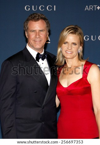 Viveca Paulin and Will Ferrell at the LACMA 2013 Art + Film Gala Honoring Martin Scorsese And David Hockney held at the LACMA in Los Angeles on November 2, 2013 in Los Angeles, California. - stock photo