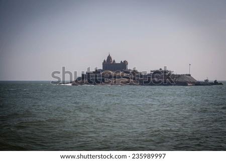 Vivekananda memorial island, Kanyakumari, Tamil Nadu, India  - stock photo