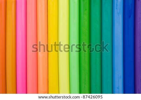vivid background made from colorful clay sticks - stock photo