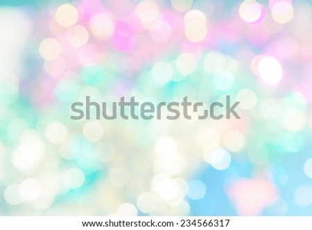 vivid bokeh in soft color style for background of Christmas light - stock photo