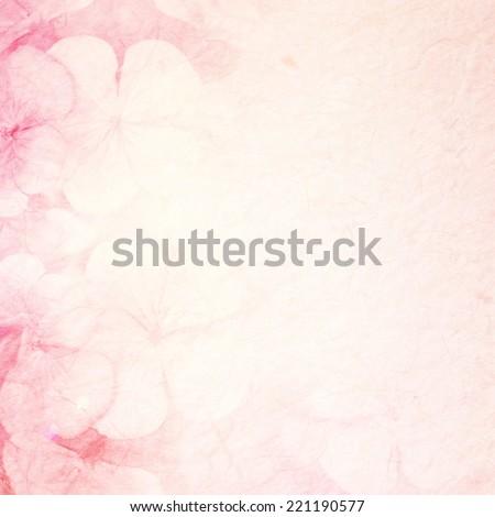Vivid Color Geraniums on mulberry paper texture - stock photo