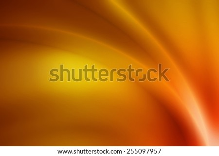 vivid gold gradient abstract background with glossy curve line - stock photo