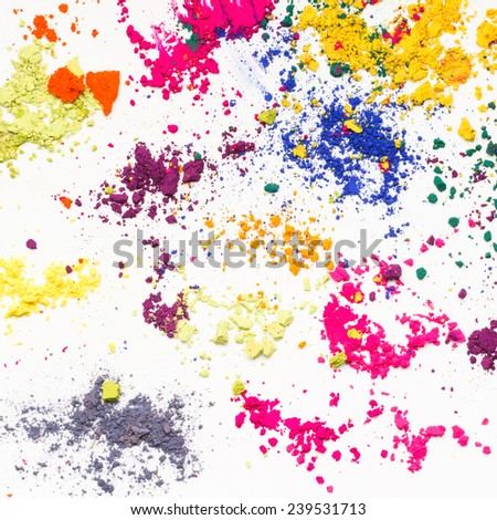 Vivid Indian dyes colorful texture. - stock photo