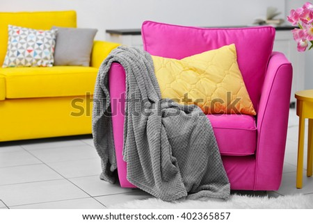 Vivid living room - stock photo