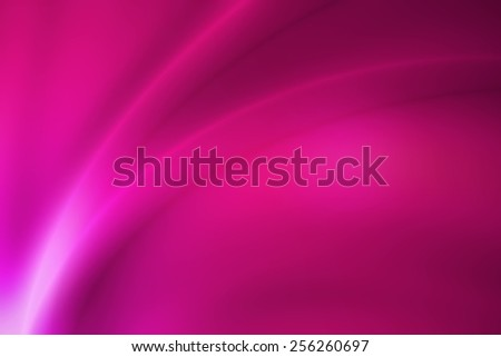 vivid pink gradient abstract background with glossy curve line - stock photo