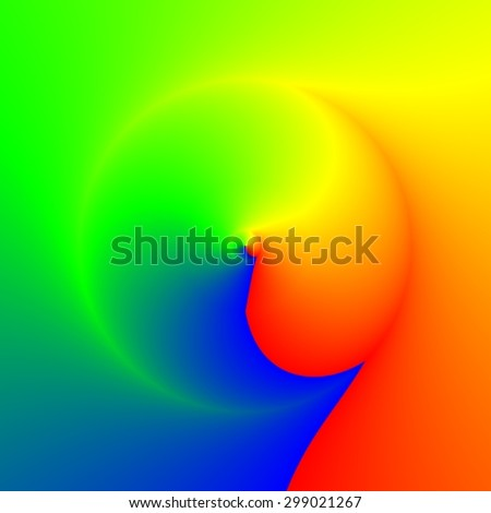 Vivid rays curved into sphere in colors of spectrum, background template - stock photo