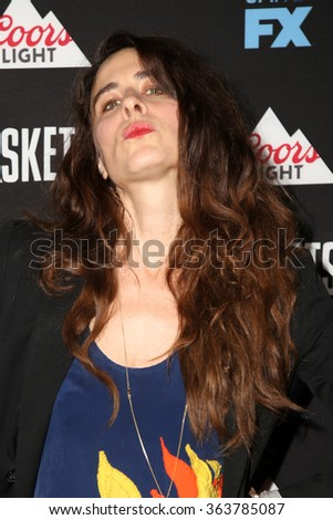 vLOS ANGELES - JAN 14:  Sabina Sciubba at the Baskets Red Carpet Event at the Pacific Design Center on January 14, 2016 in West Hollywood, CA - stock photo