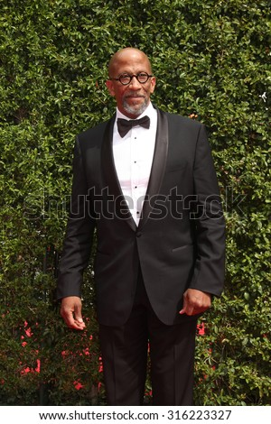 vLOS ANGELES - SEP 12:  Reg E. Cathey at the Primetime Creative Emmy Awards Arrivals at the Microsoft Theater on September 12, 2015 in Los Angeles, CA - stock photo