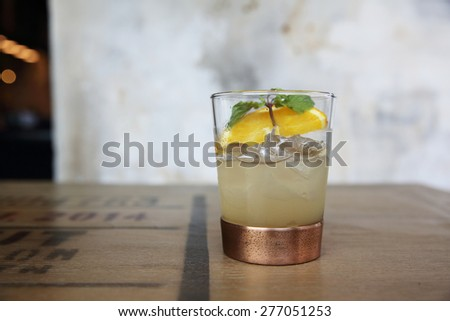 vodka cocktail - stock photo